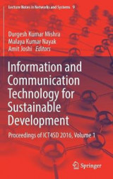 Omslag - Information and Communication Technology for Sustainable Development