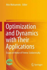 Omslag - Optimization and Dynamics with Their Applications