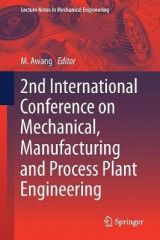 Omslag - 2nd International Conference on Mechanical, Manufacturing and Process Plant Engineering