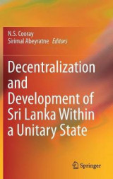 Omslag - Decentralization and Development of Sri Lanka Within a Unitary State