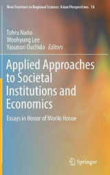 Omslag - Applied Approaches to Societal Institutions and Economics