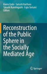 Omslag - Reconstruction of the Public Sphere in the Socially Mediated Age