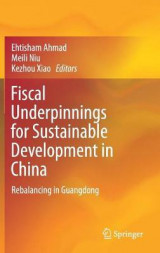Omslag - Fiscal Underpinnings for Sustainable Development in China