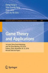 Omslag - Game Theory and Applications