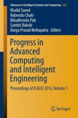 Omslag - Progress in Advanced Computing and Intelligent Engineering
