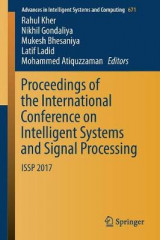 Omslag - Proceedings of the International Conference on Intelligent Systems and Signal Processing