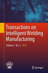 Omslag - Transactions on Intelligent Welding Manufacturing