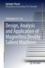 Omslag - Design, Analysis and Application of Magnetless Doubly Salient Machines