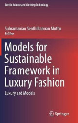 Omslag - Models for Sustainable Framework in Luxury Fashion