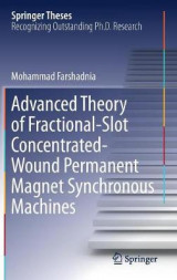 Omslag - Advanced Theory of Fractional-Slot Concentrated-Wound Permanent Magnet Synchronous Machines