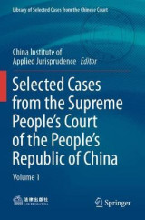 Omslag - Selected Cases from the Supreme People's Court of the People's Republic of China