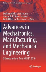 Omslag - Advances in Mechatronics, Manufacturing, and Mechanical Engineering