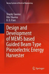 Omslag - Design and Development of MEMS based Guided Beam Type Piezoelectric Energy Harvester
