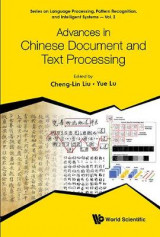 Omslag - Advances In Chinese Document And Text Processing