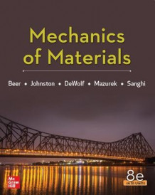Mechanics Of Materials 8th Edition, Si Units av Ferdinand Beer, E. Johnston, John DeWolf, David Mazurek og Sanjeev Sanghi (Heftet)