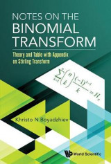 Omslag - Notes On The Binomial Transform: Theory And Table With Appendix On Stirling Transform