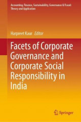 Omslag - Facets of Corporate Governance and Corporate Social Responsibility in India