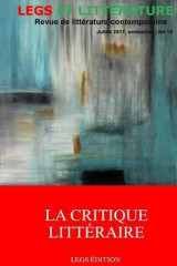 Omslag - La Critique Litteraire